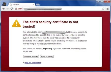 SSL certificate Blocked