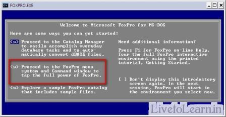 foxpro front screen